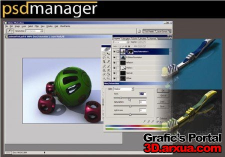 Cebas PSD-manager v2.0 for 3ds max 9 (32bit)